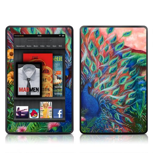 Coral Peacock Amazon Kindle Fire Skin