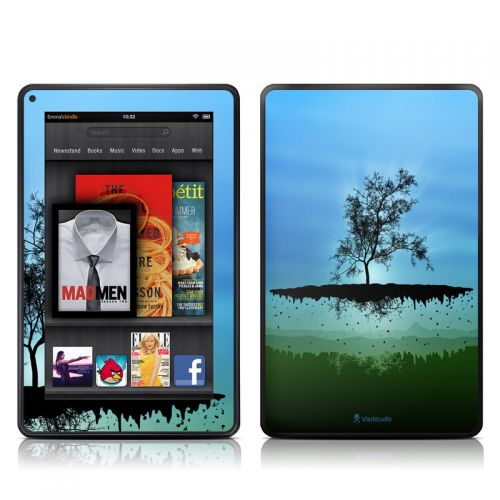 Flying Tree Blue Amazon Kindle Fire Skin