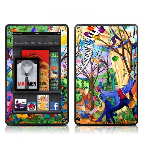 Happy Town Celebration Amazon Kindle Fire Skin