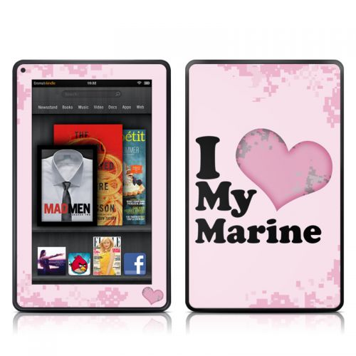 I Love My Marine Amazon Kindle Fire Skin