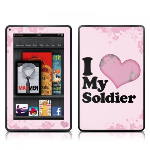 I Love My Soldier Amazon Kindle Fire Skin