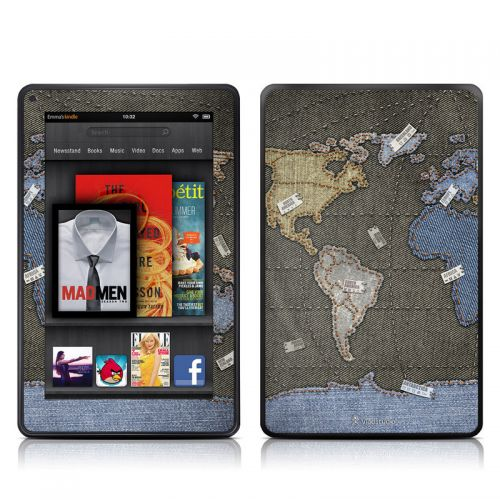 Jean Map Amazon Kindle Fire Skin