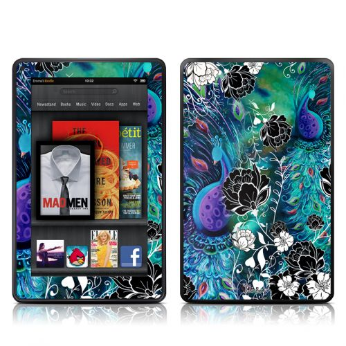 Peacock Garden Amazon Kindle Fire Skin
