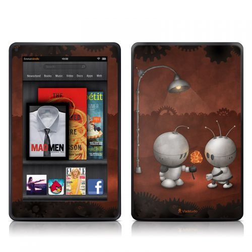 Robots In Love Amazon Kindle Fire Skin