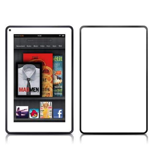 Solid State White Amazon Kindle Fire Skin
