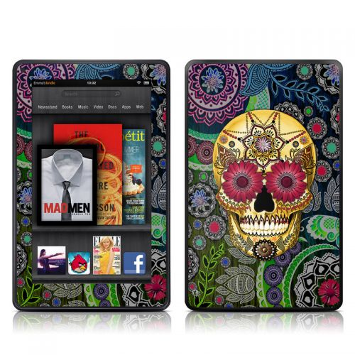Sugar Skull Paisley Amazon Kindle Fire Skin