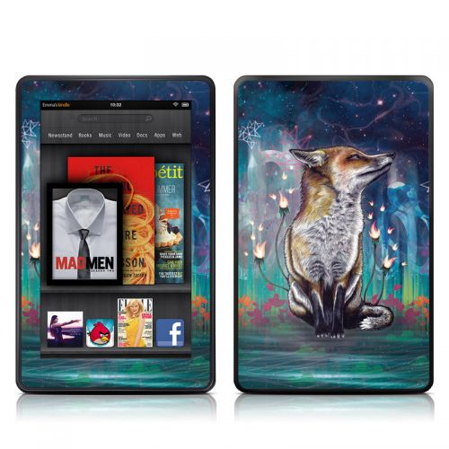 There is a Light Amazon Kindle Fire Skin
