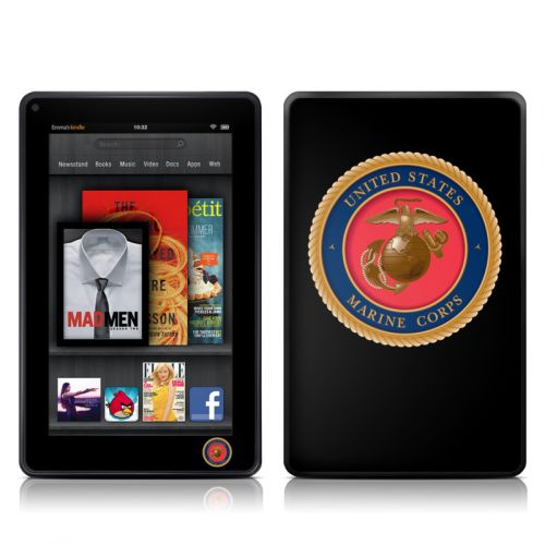 USMC Black Amazon Kindle Fire Skin