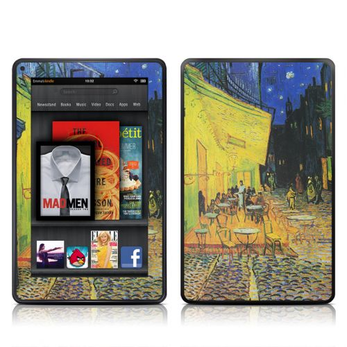 Cafe Terrace At Night Amazon Kindle Fire Skin