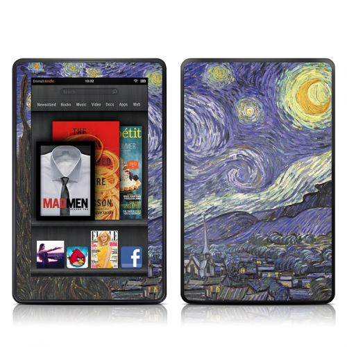 Starry Night Amazon Kindle Fire Skin