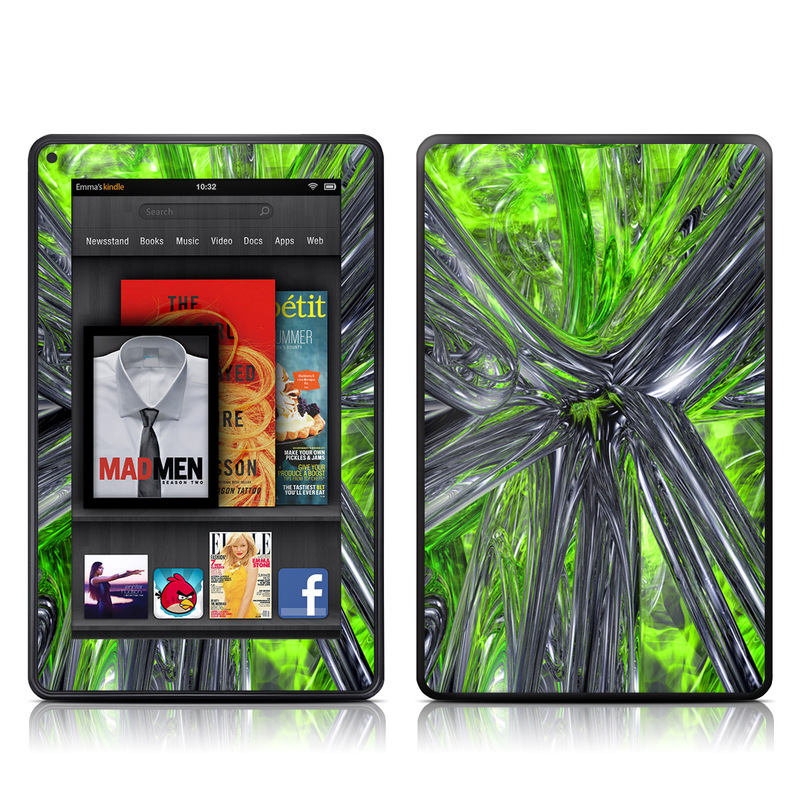 Emerald Abstract Amazon Kindle Fire Skin