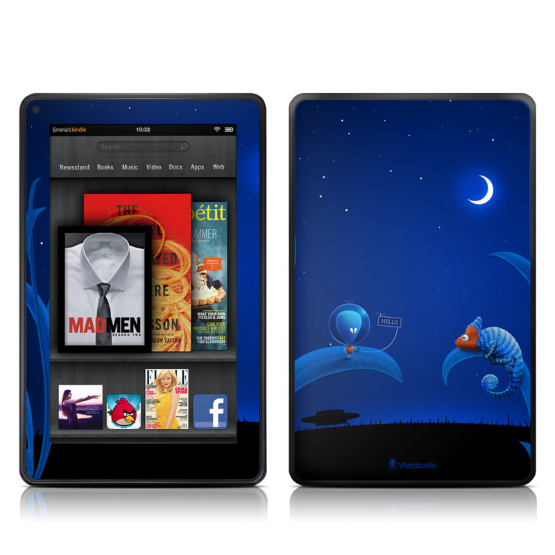 Alien and Chameleon Amazon Kindle Fire Skin