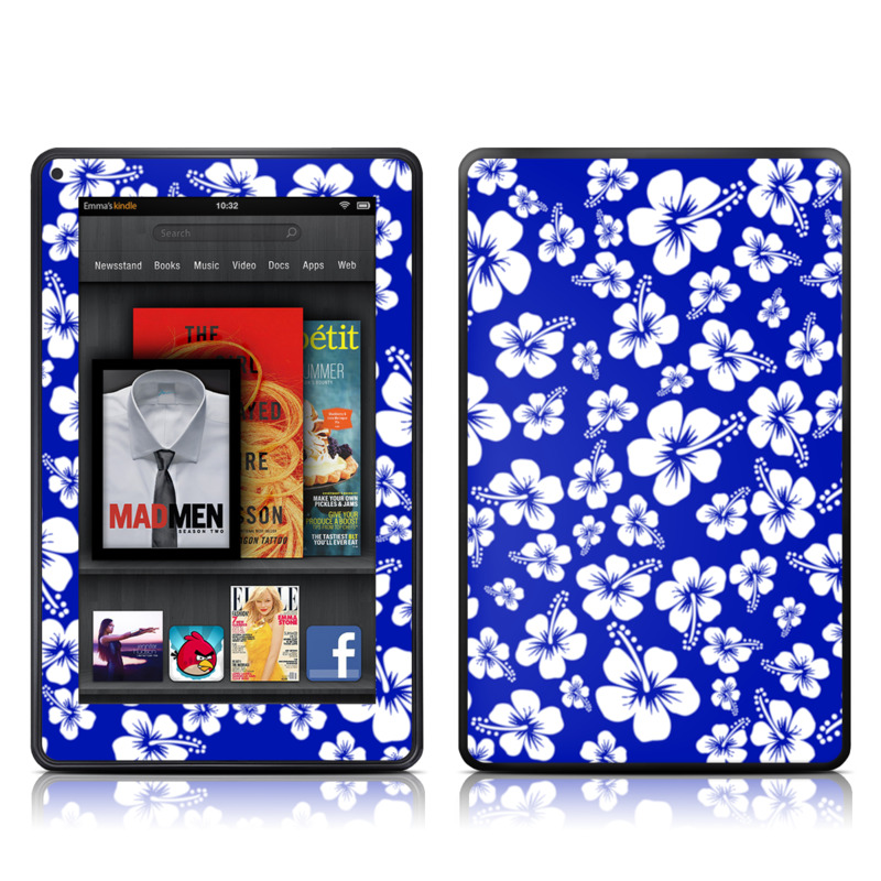 Aloha Blue Amazon Kindle Fire Skin