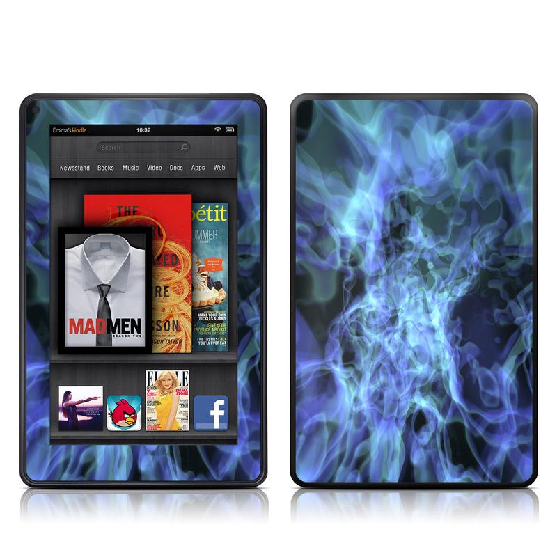 Amazon Kindle Fire 2012 Skin design of Water, Purple, Blue, Violet, Organism, Fractal art, Electric blue, Art, Graphics, Pattern with blue, black, purple colors