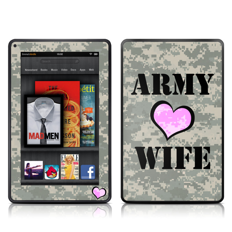 Army Wife Amazon Kindle Fire Skin