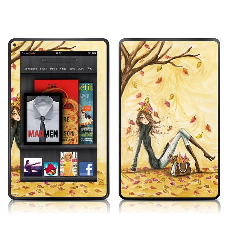 Autumn Leaves Amazon Kindle Fire Skin