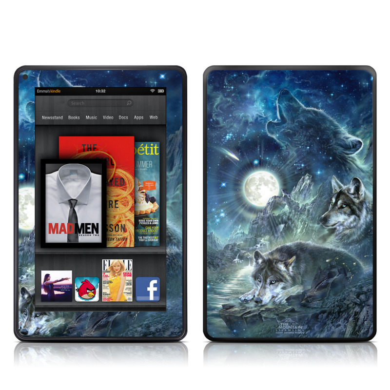 Bark At The Moon Amazon Kindle Fire Skin