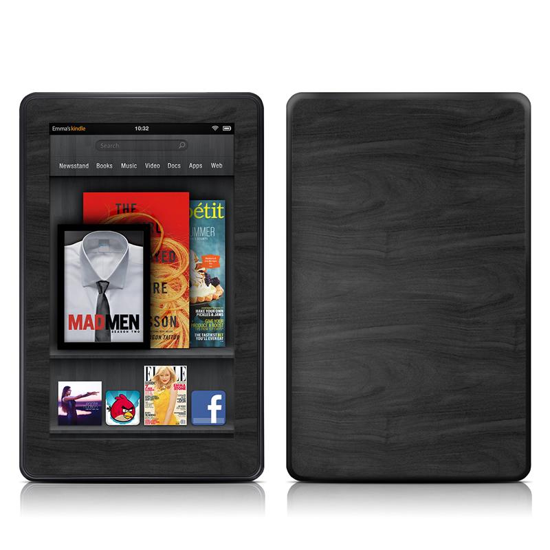 Black Woodgrain Amazon Kindle Fire Skin