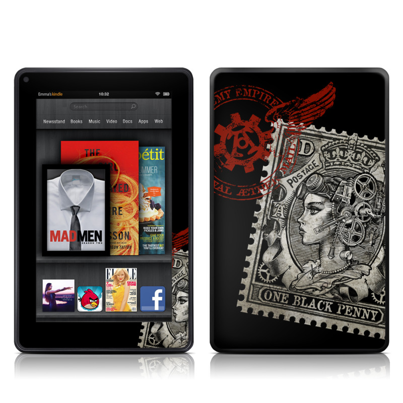 Black Penny Amazon Kindle Fire Skin