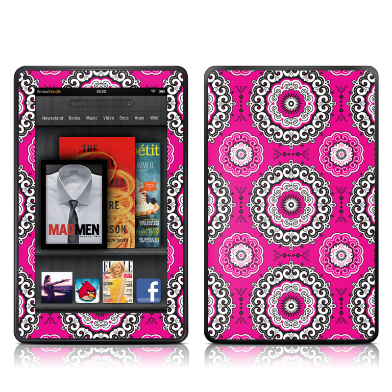 Boho Girl Medallions Amazon Kindle Fire Skin