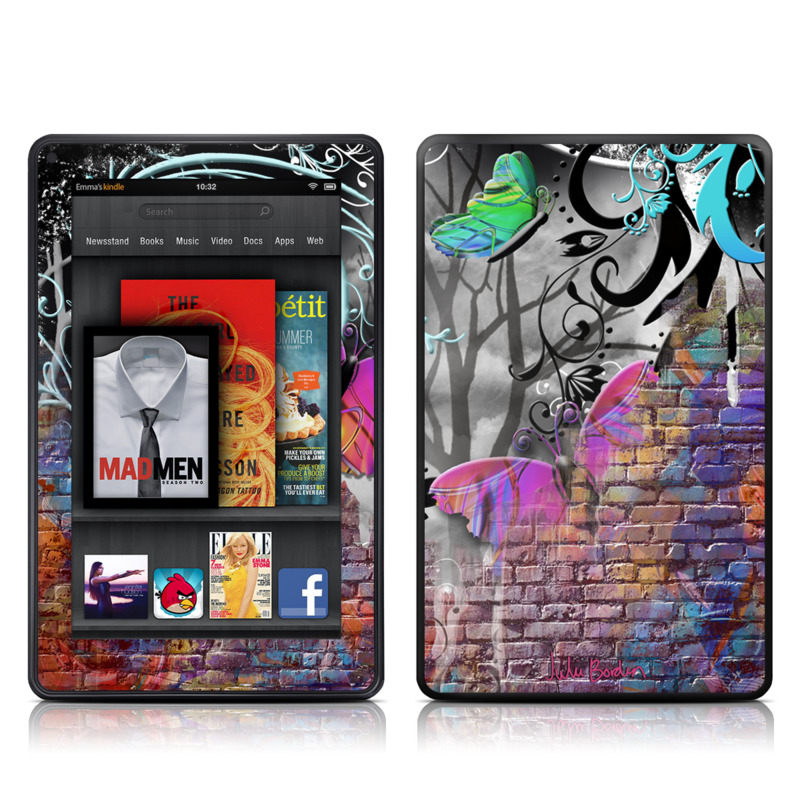 Butterfly Wall Amazon Kindle Fire Skin
