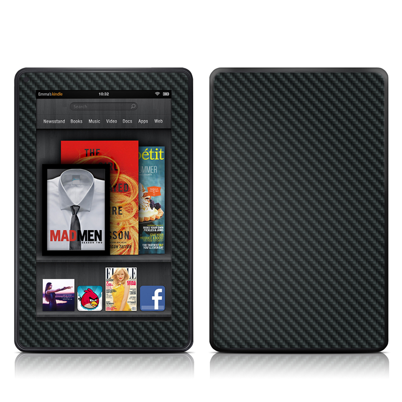 Carbon Amazon Kindle Fire Skin