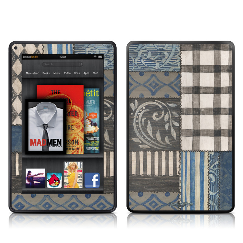 Country Chic Blue Amazon Kindle Fire Skin