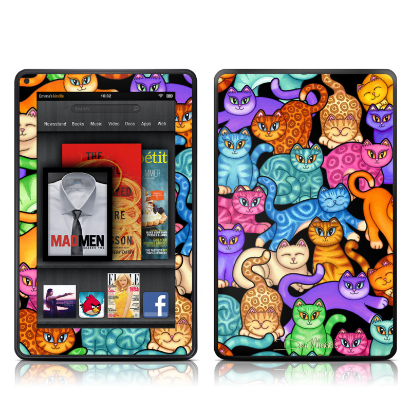 Colorful Kittens Amazon Kindle Fire Skin