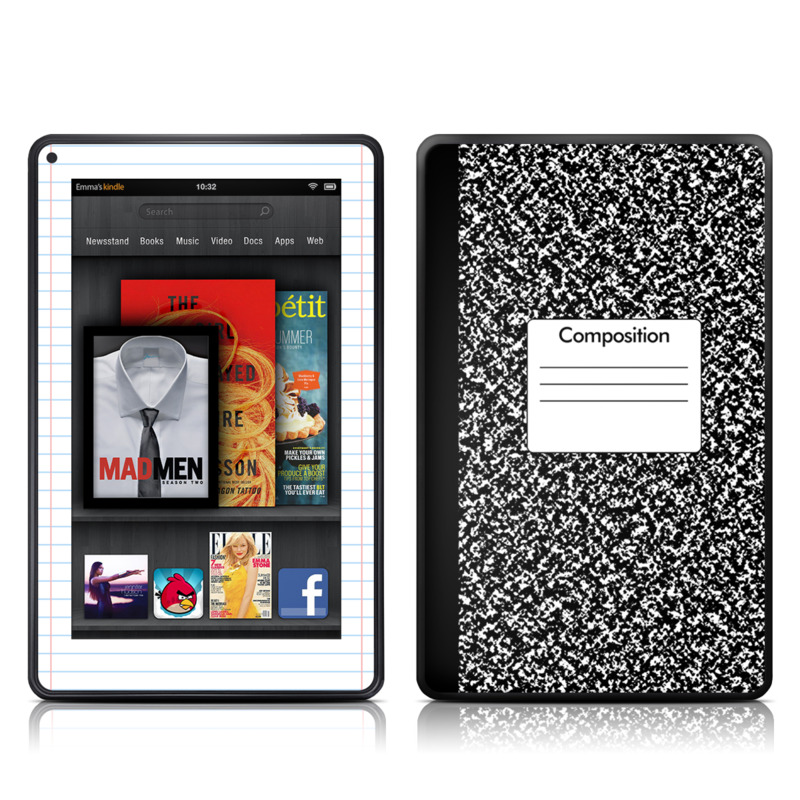 Composition Notebook Amazon Kindle Fire Skin