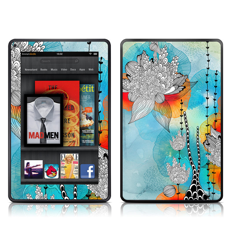 Coral Amazon Kindle Fire Skin