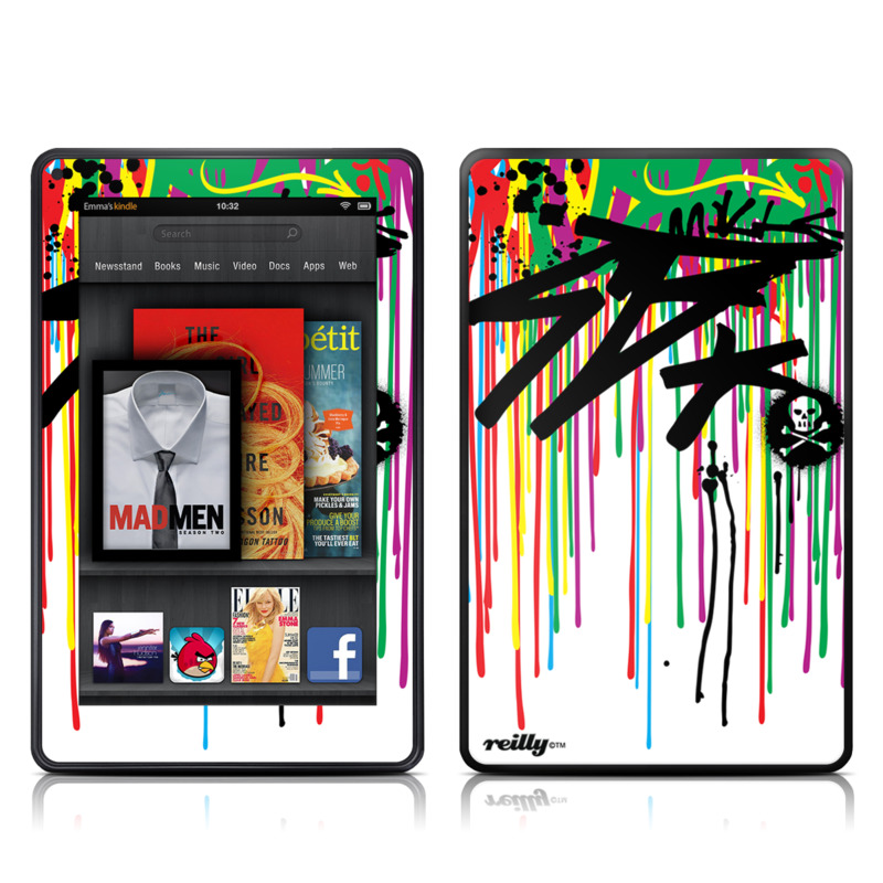 Colour Rain Amazon Kindle Fire Skin