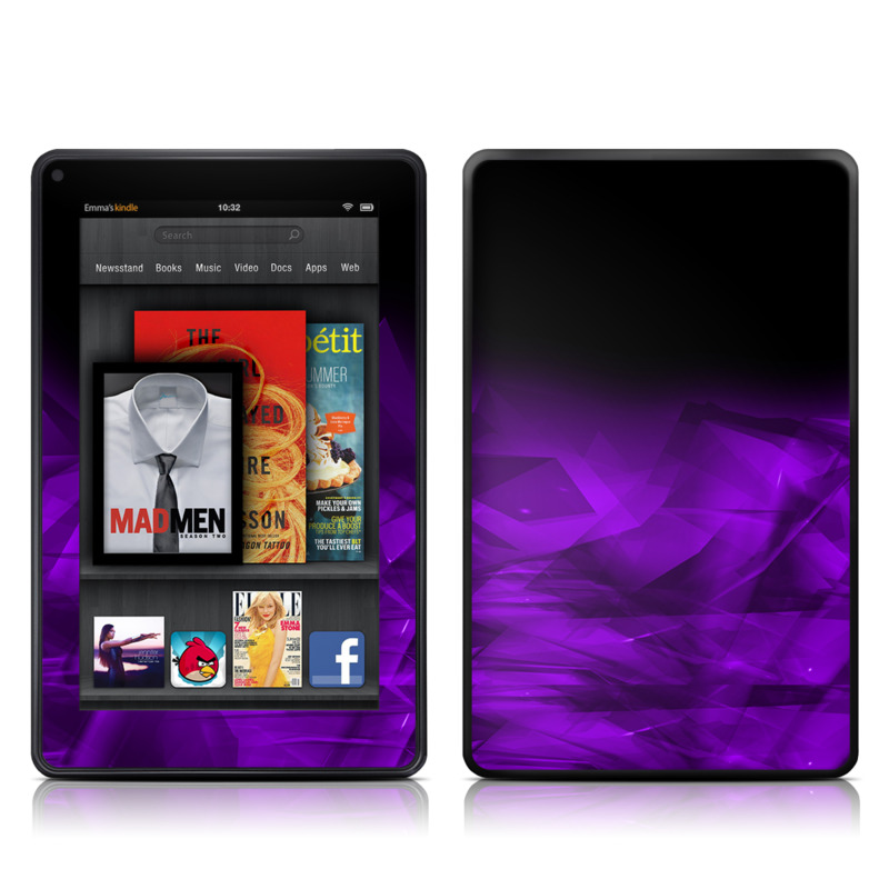 Dark Amethyst Crystal Amazon Kindle Fire Skin