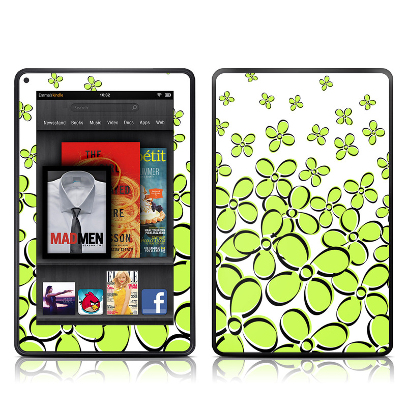 Green Amazon Kindle Fire Skin