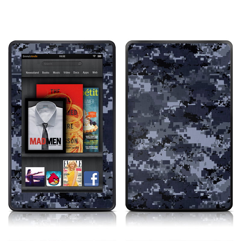 Digital Navy Camo Amazon Kindle Fire Skin