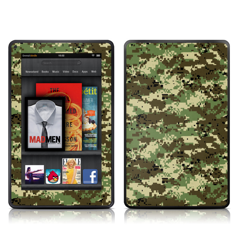 Digital Woodland Camo Amazon Kindle Fire Skin
