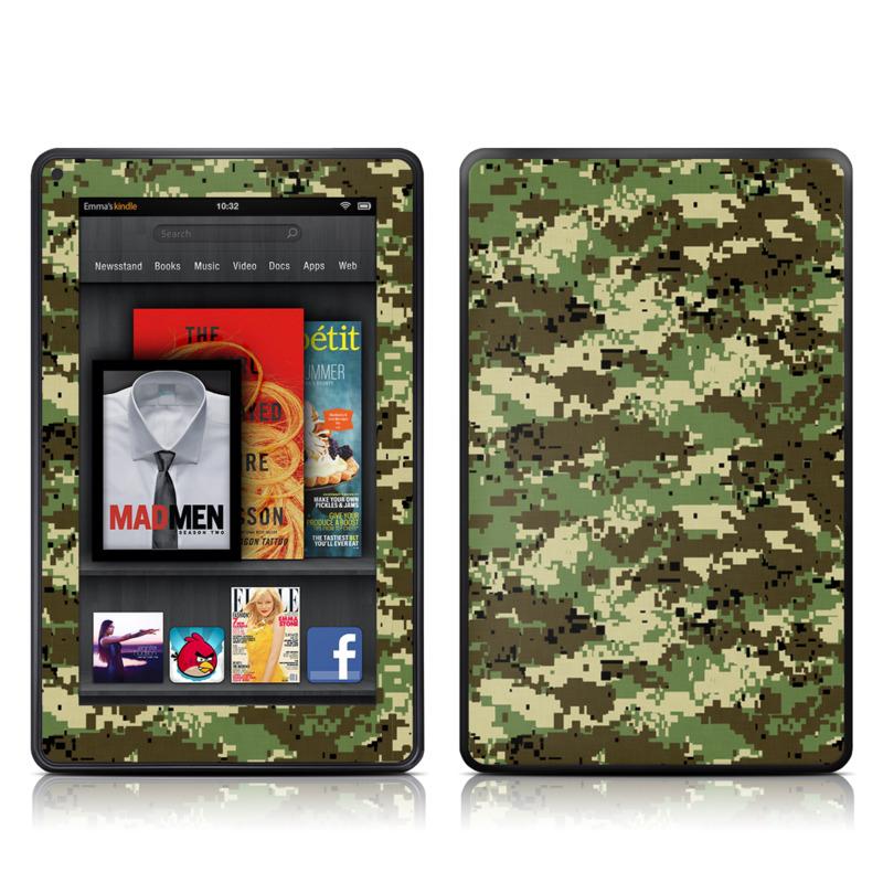 Digital Woodland Camo Amazon Kindle Fire Skin