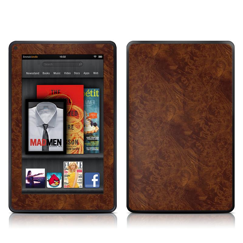 Dark Burlwood Amazon Kindle Fire Skin