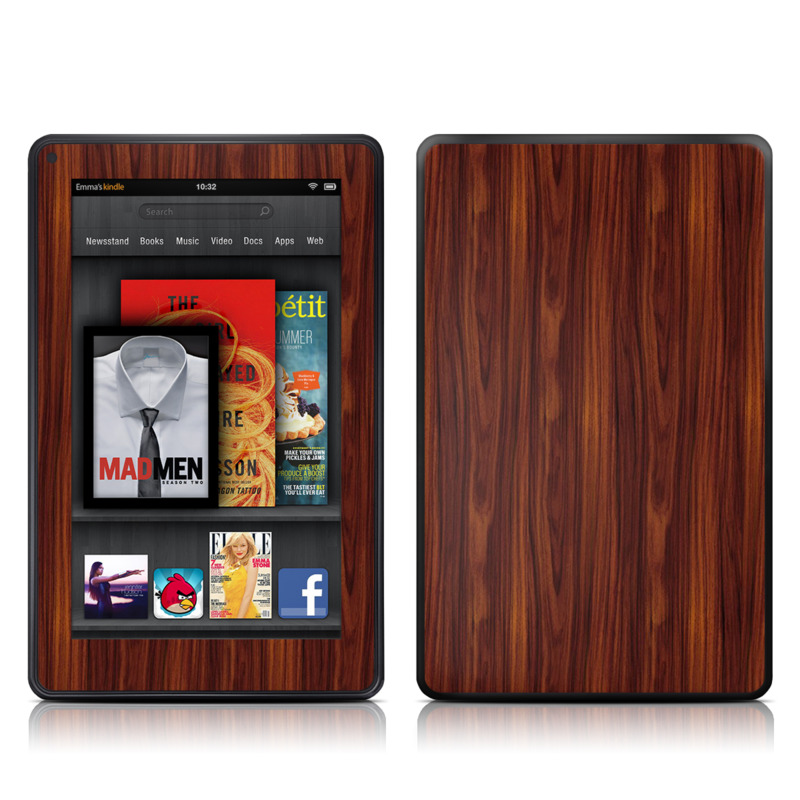 Dark Rosewood Amazon Kindle Fire Skin