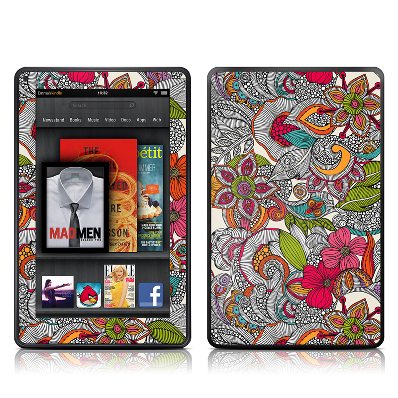 Doodles Color Amazon Kindle Fire Skin