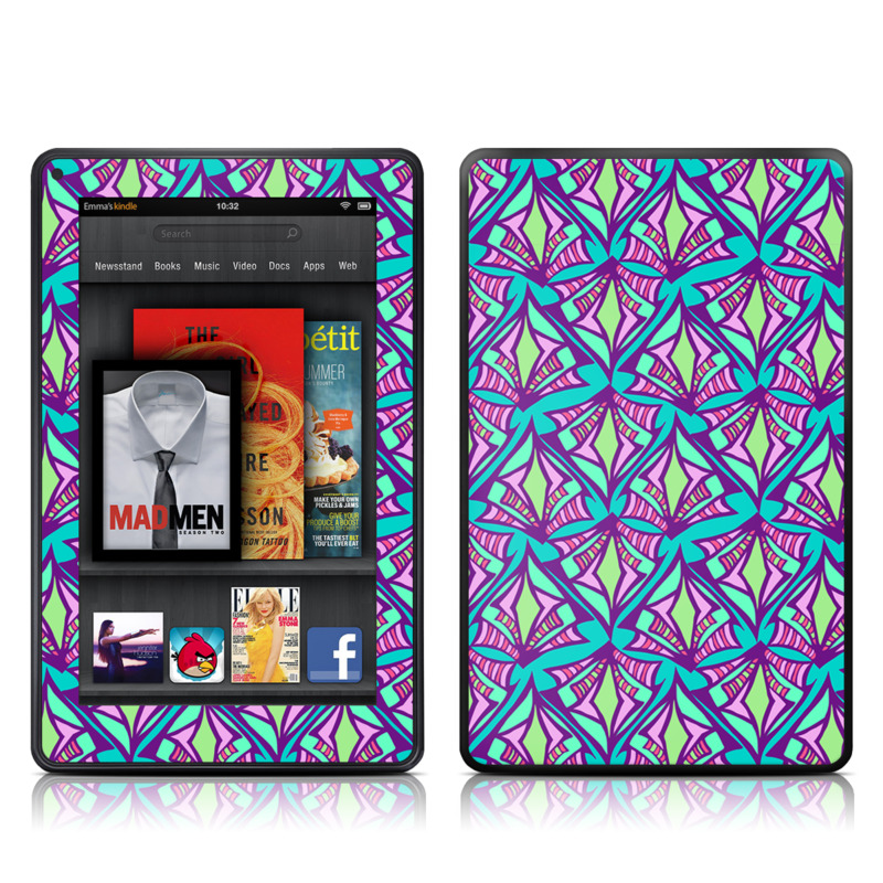 Fly Away Teal Amazon Kindle Fire Skin