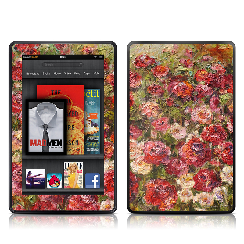 Fleurs Sauvages Amazon Kindle Fire Skin