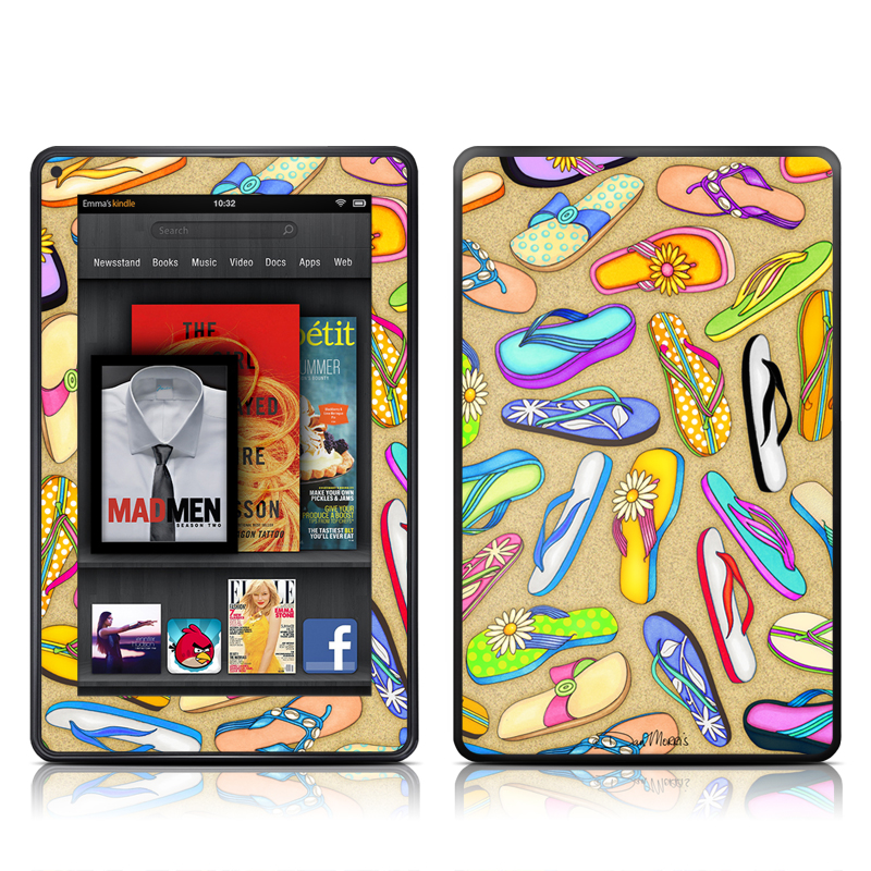 Flip Flops Amazon Kindle Fire Skin