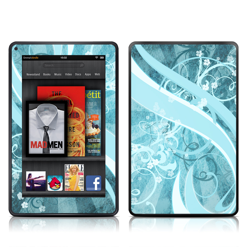 Flores Agua Amazon Kindle Fire Skin