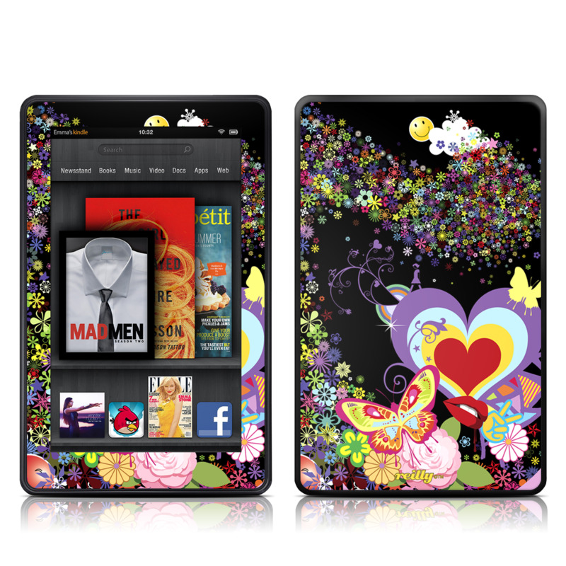 Flower Cloud Amazon Kindle Fire Skin
