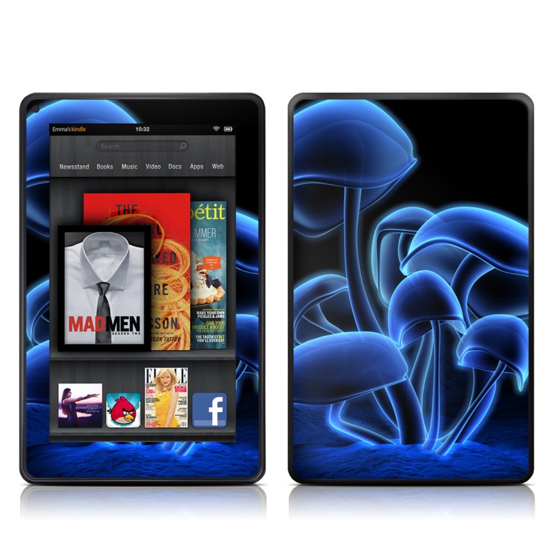 Fluorescence Blue Amazon Kindle Fire Skin