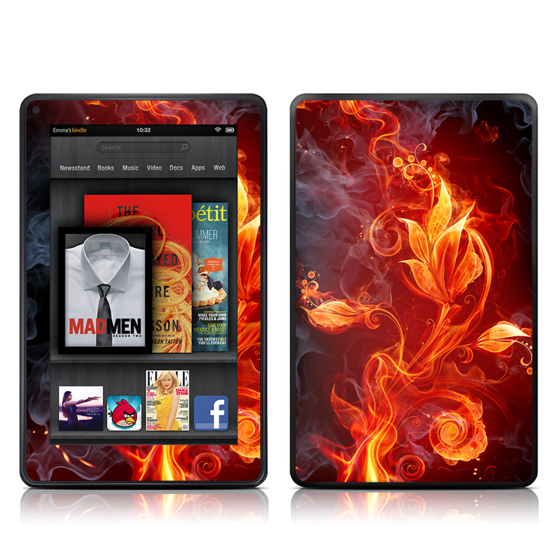 Flower Of Fire Amazon Kindle Fire Skin