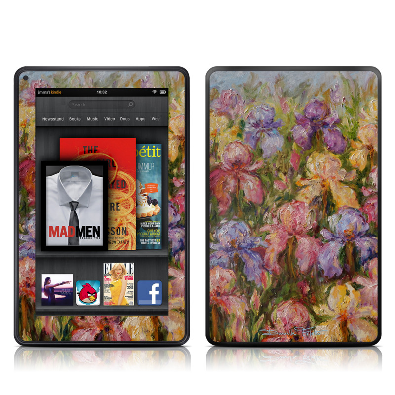 Field Of Irises Amazon Kindle Fire Skin