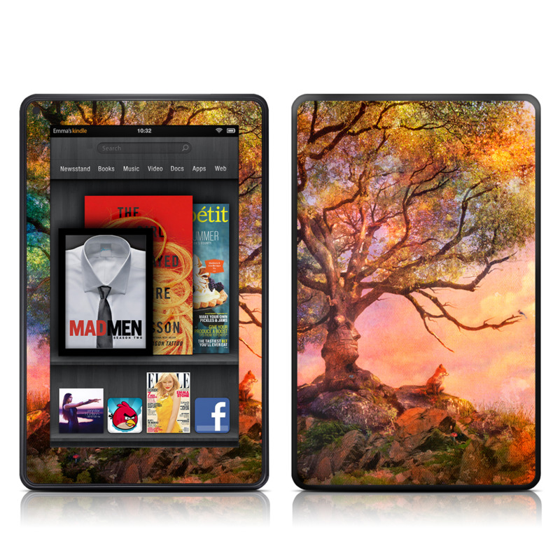 Fox Sunset Amazon Kindle Fire Skin