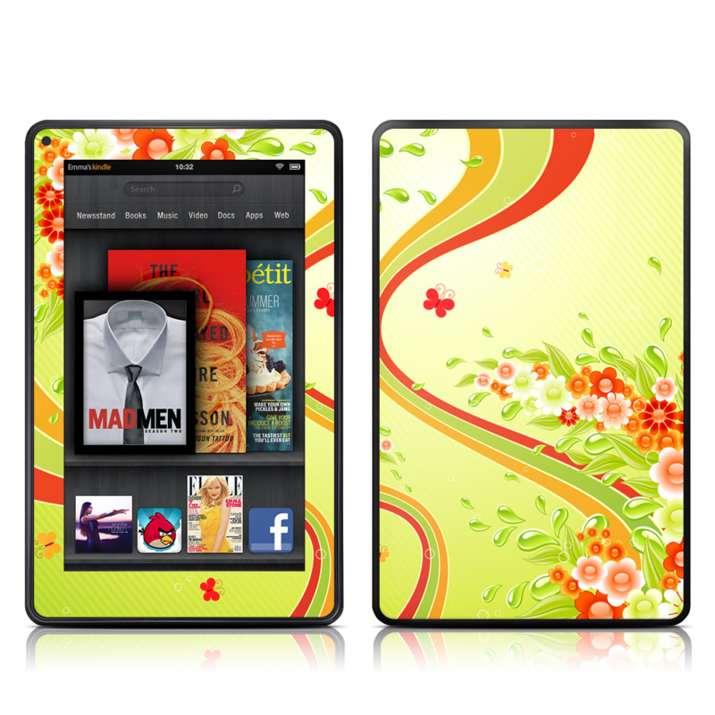 Flower Splash Amazon Kindle Fire Skin