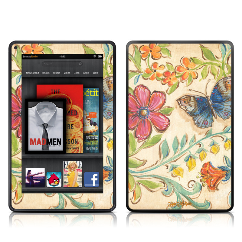 Garden Scroll Amazon Kindle Fire Skin